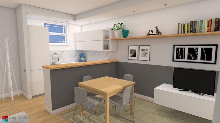 Idée relooking cuisine – Progettazione di un soggiorno moderno con ...