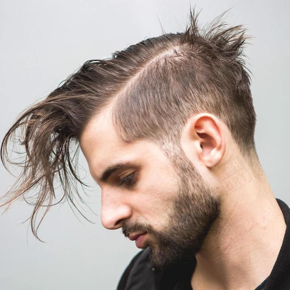 Long Top Short Sides Hairstyle For Thin Hair Thin Hair Men Stylish Hair Hairstyles For Thin Hair