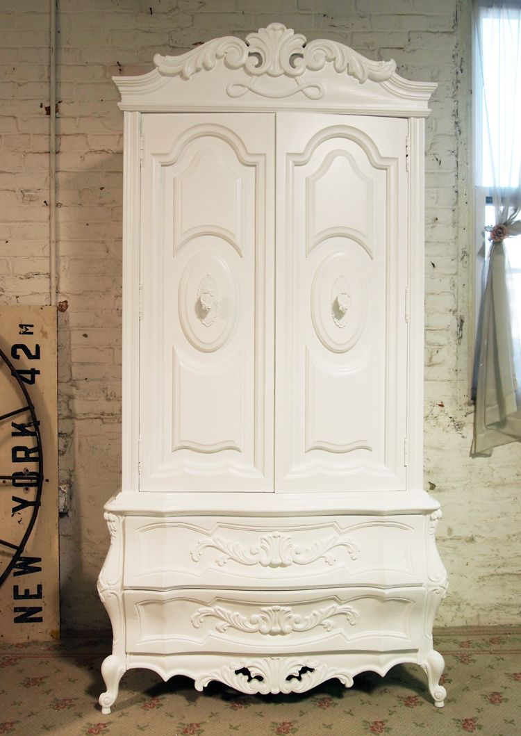 Painted Cottage Chic Shabby French Armoire By Paintedcottages