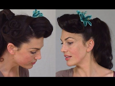 Amazing Pin Up Ponytail Easy Practical Vintage Hairstyle Youtube Hairstyle Inspiration Daily Dogsangcom