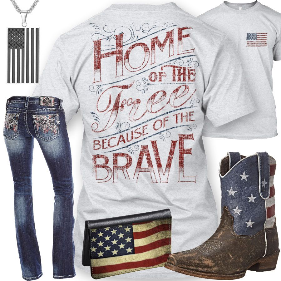 home of the free because of the brave country clothes