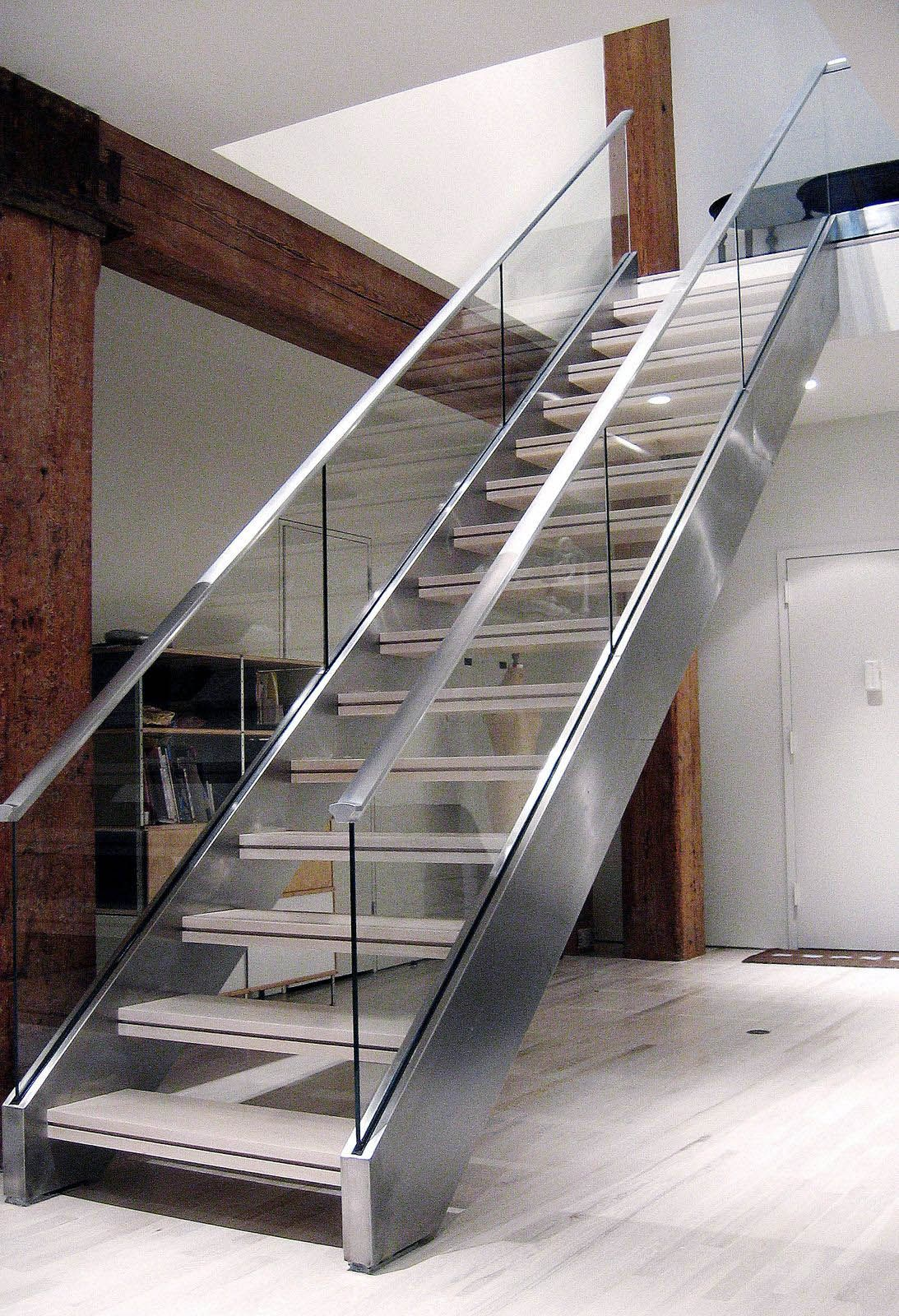 20 Sleek Glass Railings For The Stairs Glass Railing   Stairs Railing Designs In Steel And Glass