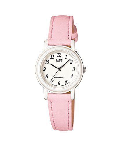 146b0ff51385 AmazonSmile  Casio Women s Light Pink Genuine Leather Analog Watch  LQ139L-4B1  Clothing