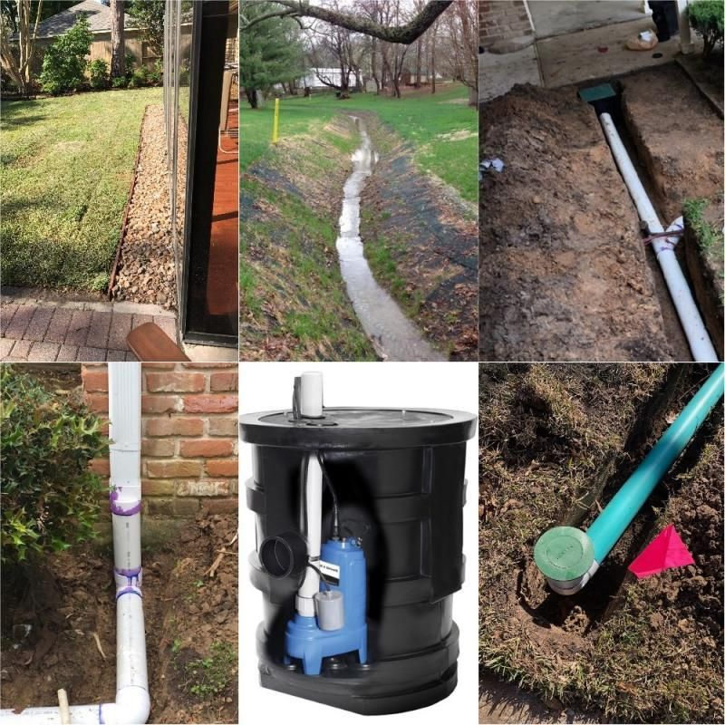 There Are Multiple Types Of Drains To Remove Water From Your Property In Houston Most Residential Prope In 2020 Landscape Drainage Drainage French Drain Installation