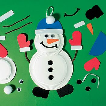 paper plate snowman craft & paper plate snowman craft | Christmas in my class | Pinterest ...