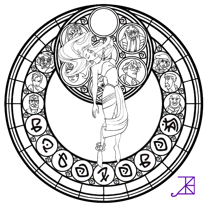 Kida Stained Glass -line art- by Akili-Amethyst | LineArt: Designs ...