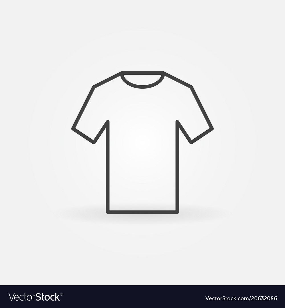 T Shirt Icon Outline Tshirt Sign Royalty Free Vector Image T Shirt Outline Vector Free
