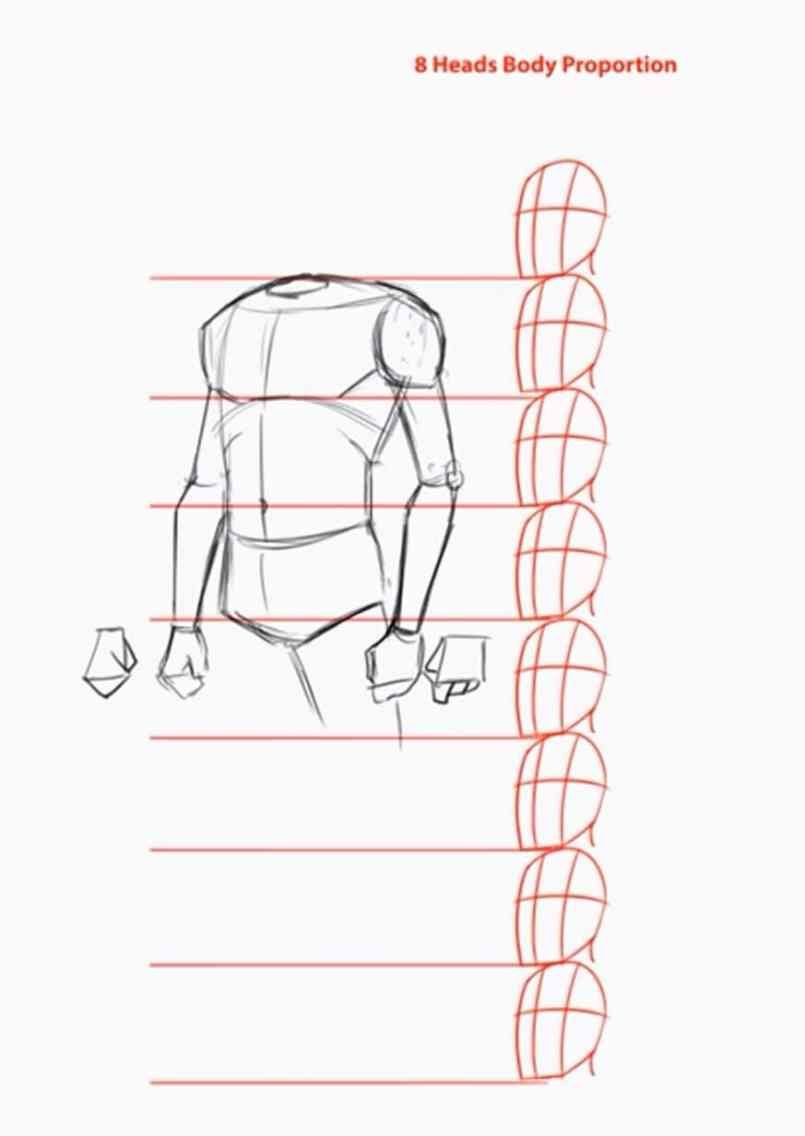 How To Draw The Human Body Step By Step How To Draw A Person Tutorial Body Reference Drawing Human Body Drawing Body Drawing