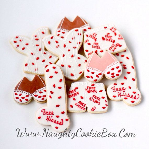 Half Dz Free Kisses Adult Cookie Set Fun Cookies For The Mature