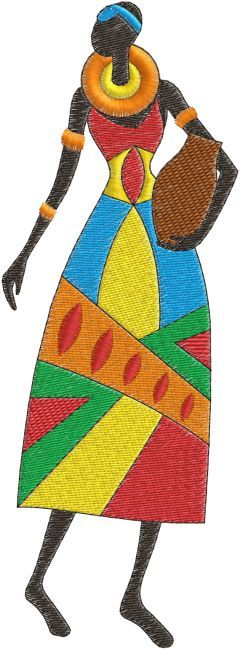 African Lady Embroidery Design Httpsetsylisting