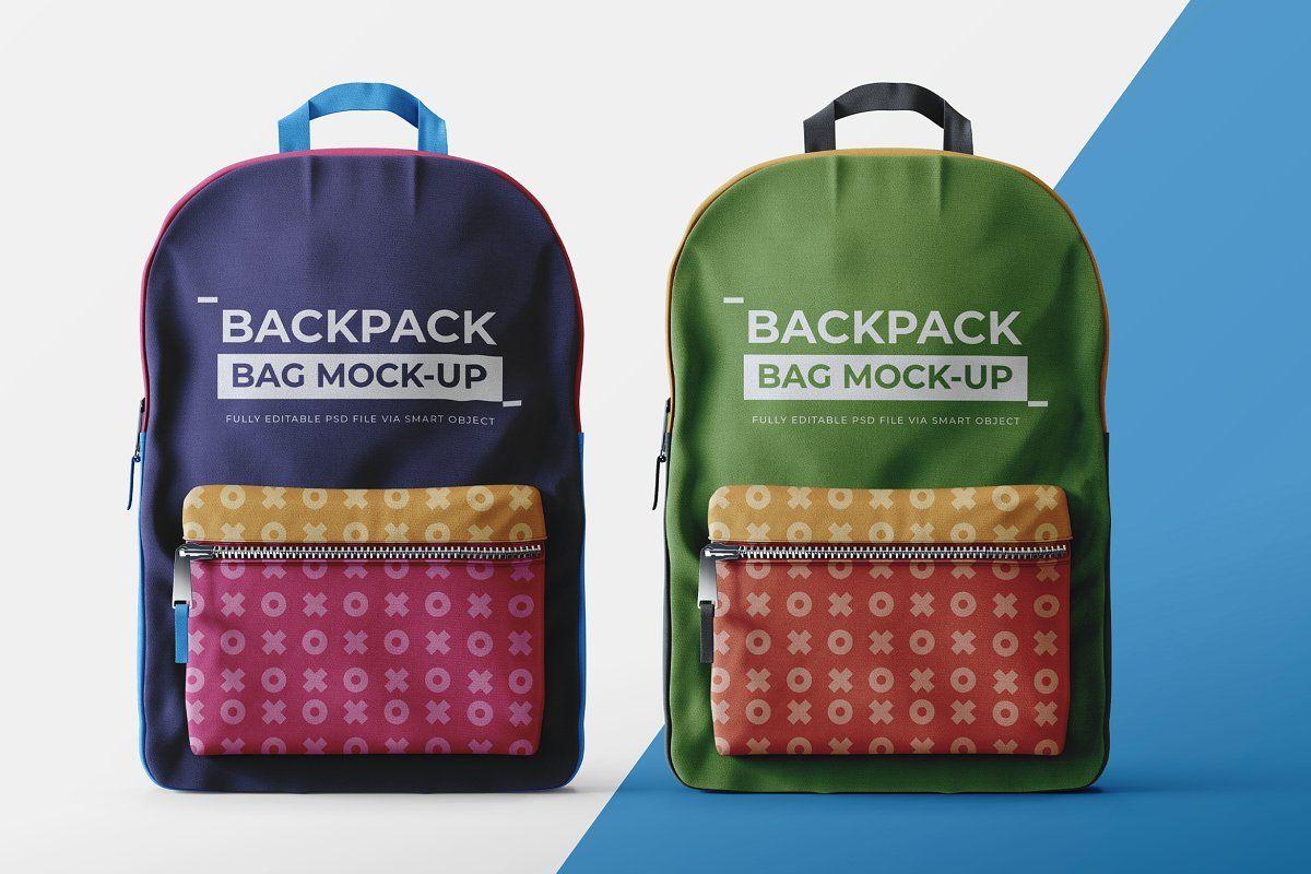 Download Backpack Mock Up Template Bag Mockup Bags Backpacks