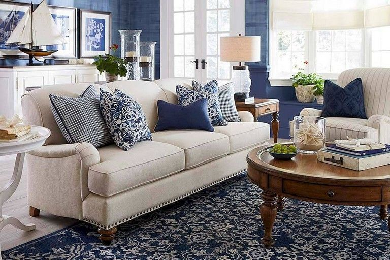 65+ Awesome Clean Coastal Living Room Decorating Ideas images