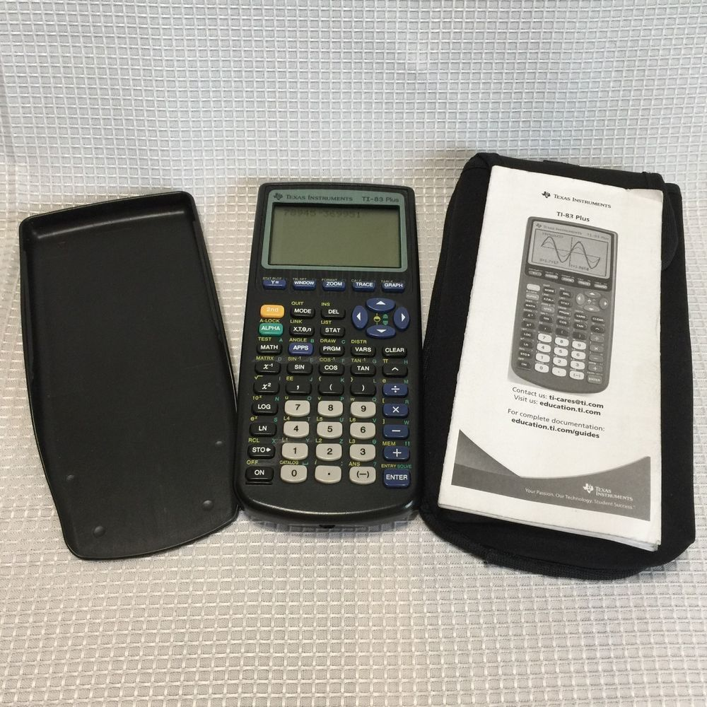 Ti 83 Plus Graphing Calculator Instructions Neoprene Case Texas Instruments Texasinstruments Graphing Graphing Calculator Numerology