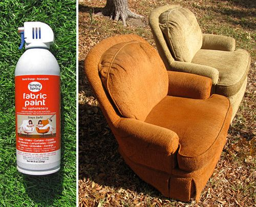 Fabric Paint   Orange Before And After Portrait (Suggested Get Upholstery  Paint From Auto Zone.