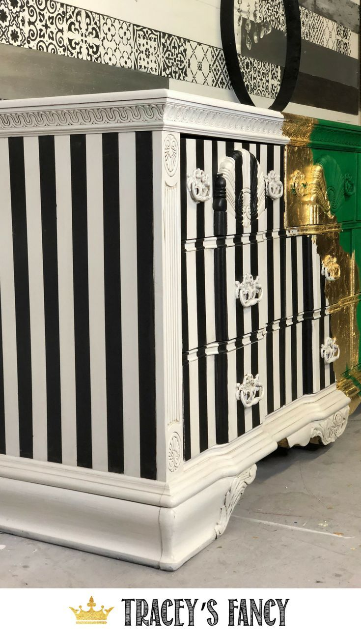 Best What A Statement A Whimsical Gold Splattered Dresser Metallic Painted Furniture Funky 400 x 300
