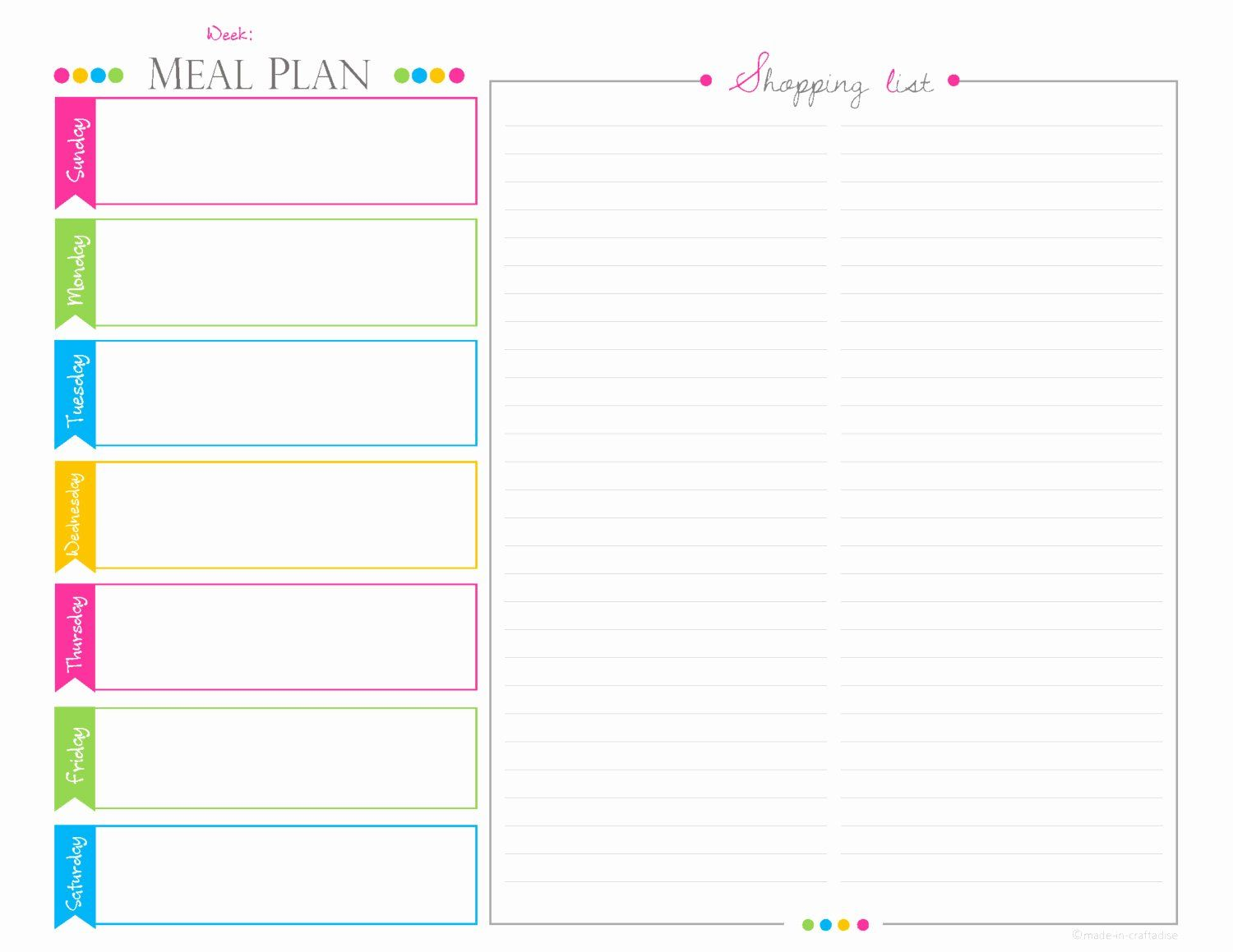 Meal Plan Template Pdf New Weekly Meal Planningshopping List Pdf Planner Landscape Meal Planning Calendar Shopping List Planner Planner Pages Weekly meal planner template pdf