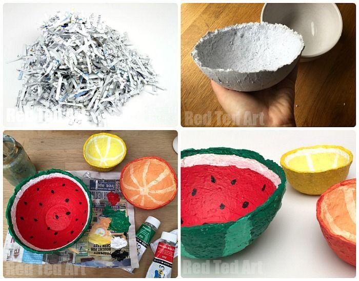 Papier Mache Summer Fruit Bowls Paper Mache Bowls Paper Mache