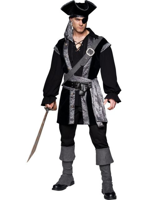 Adult High Seas Rogue Costume - Party City piratas Pinterest - mens homemade halloween costume ideas