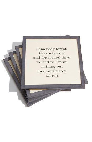 Ben's Garden 'Somebody Forgot' Coaster Set available at #Nordstrom @Tasha Adams Adams Kerr