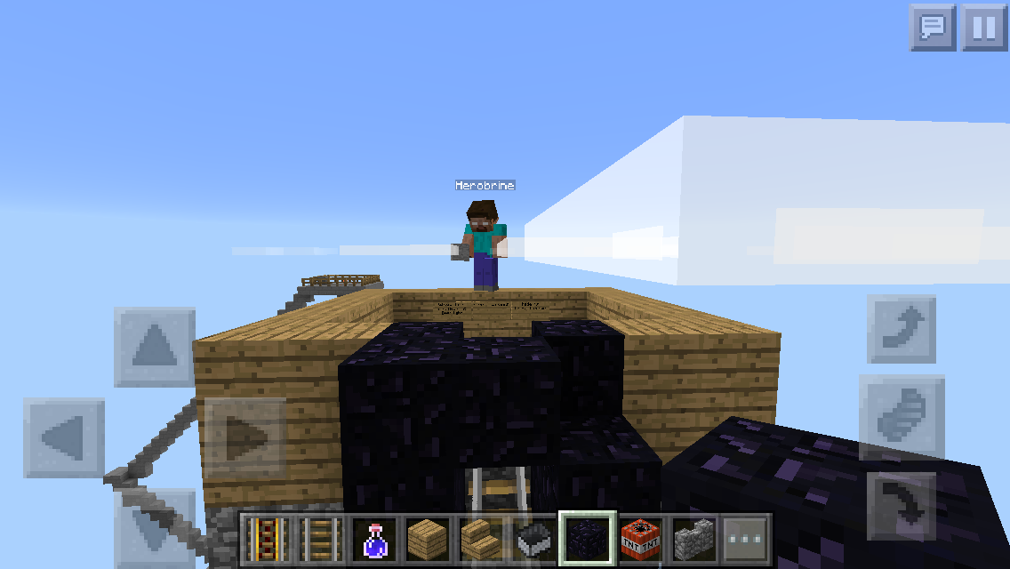I Was Playing Minecraft Pe And Herobrine Just Showed Up Twice