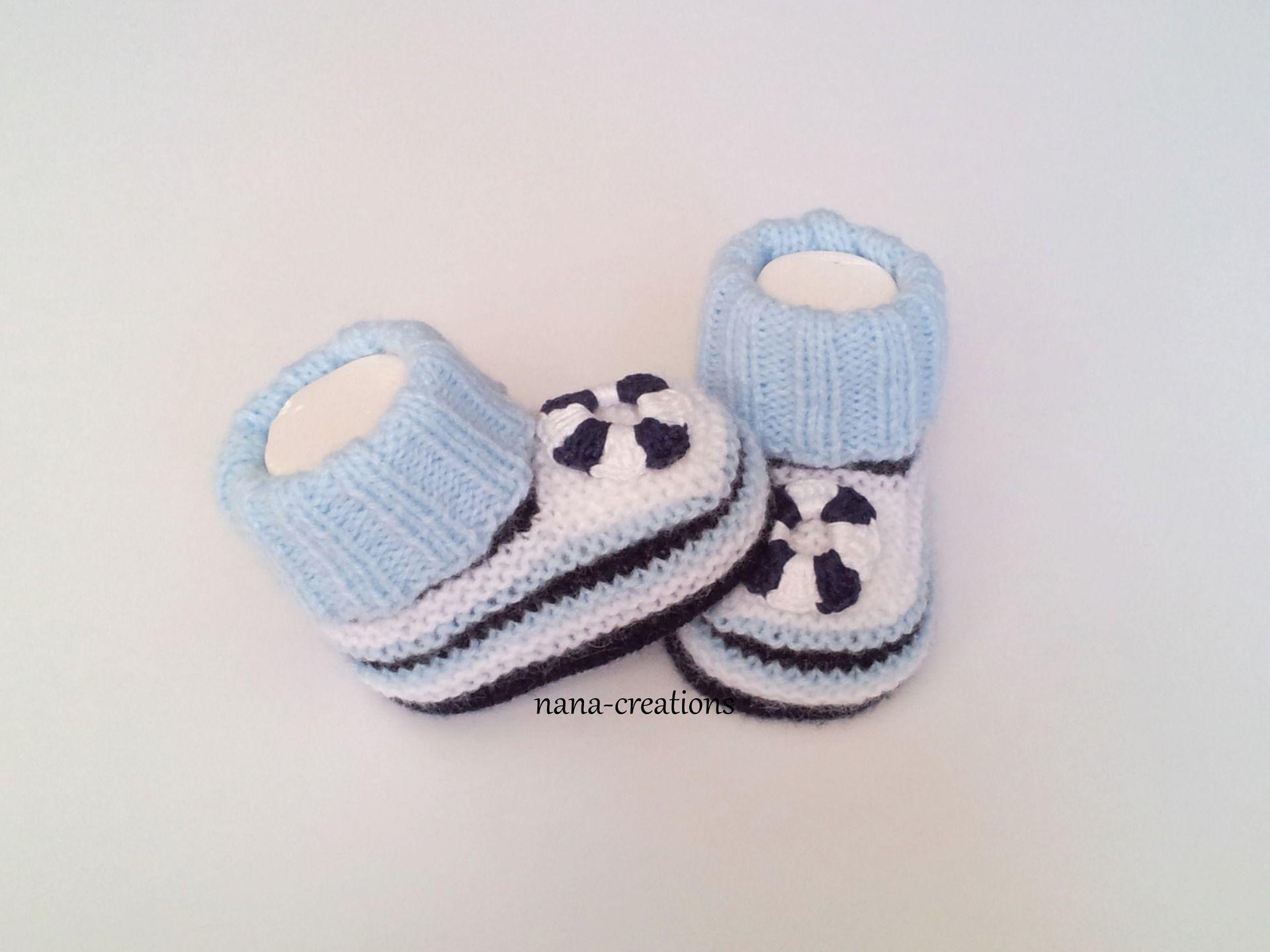 de9d9a2905561 Chaussons chaussettes bébé tricoté en laine layette