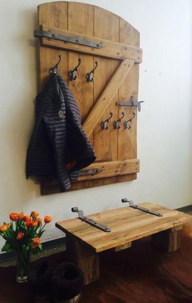 Garderobe Fensterladen Holzbugel Wandschmuck Ideen