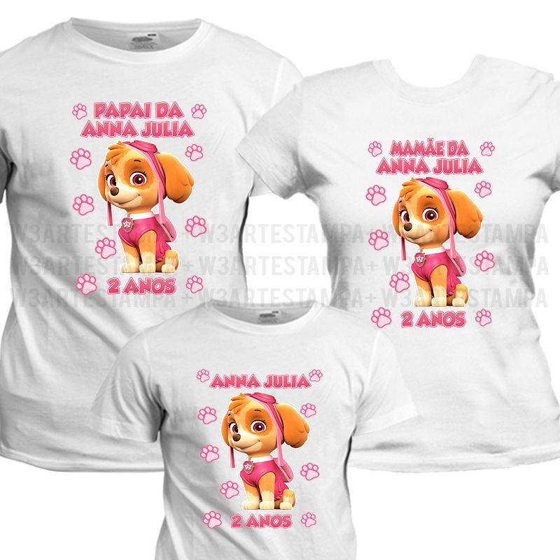 fb5ec322de Camisetas Personalizadas Patrulha Canina - Skye