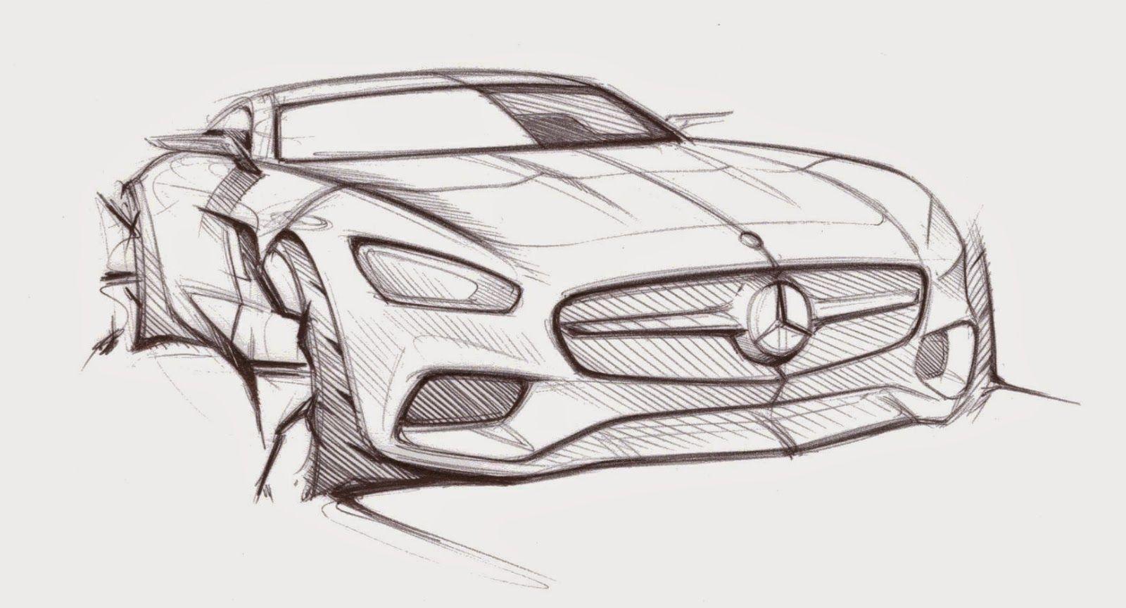 Mercedes Benz Amg Gt Official Sketches At Duckduckgo Car And Motorcycle Design Mercedes Benz Amg Design Sketch