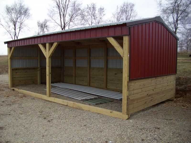 The cottage works horse and livestock shelters sheep for Barn plans for sale
