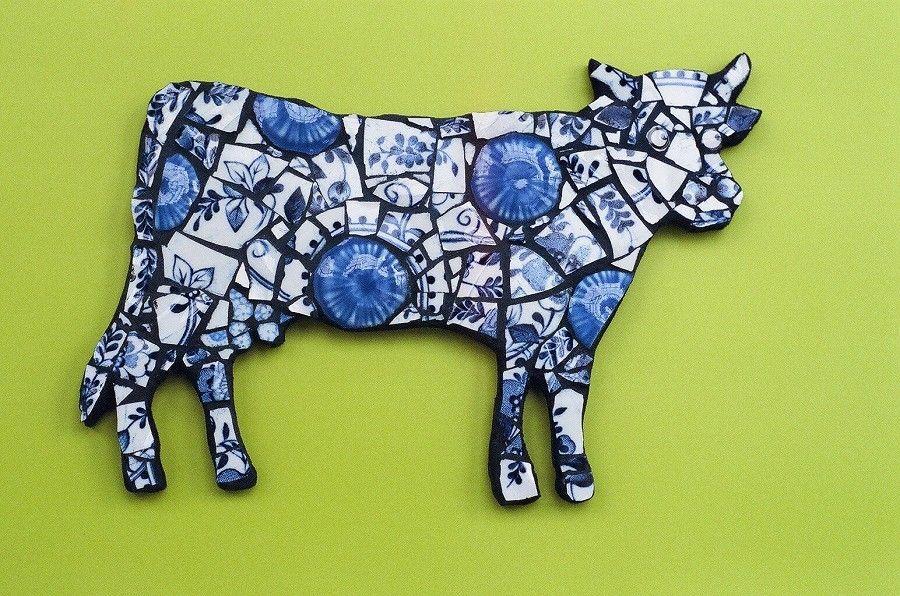 Mosaic made from smashed china Mosaic art, Vintage china