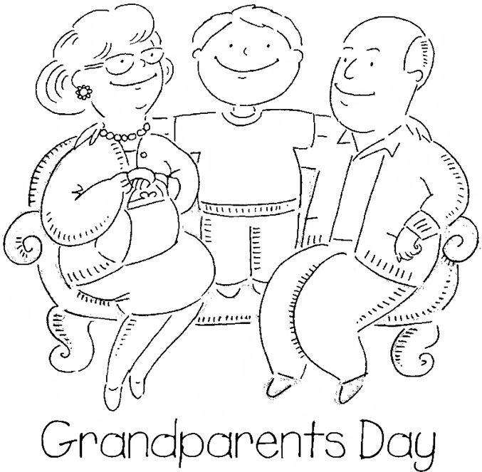 Beautiful Happy Grandparents Day Coloring Pages | Grand Parents ...