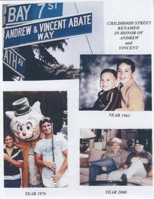 Andrew & Vincent Abate brother lost on September 11th.  I really liked the picture of the street that was named after them as well as the pictures of the two of them together. #9/11 #Project2996