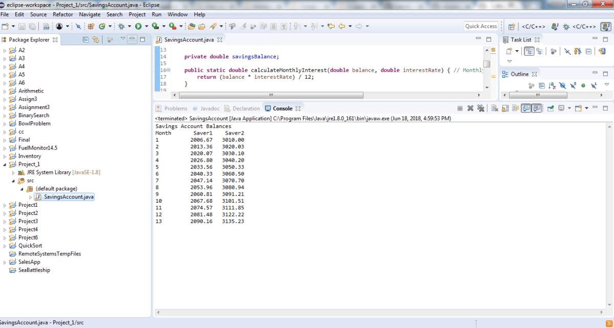 Project 1 Create Class Savingsaccount Solved Logicprohub Solving Programming Tutorial Class