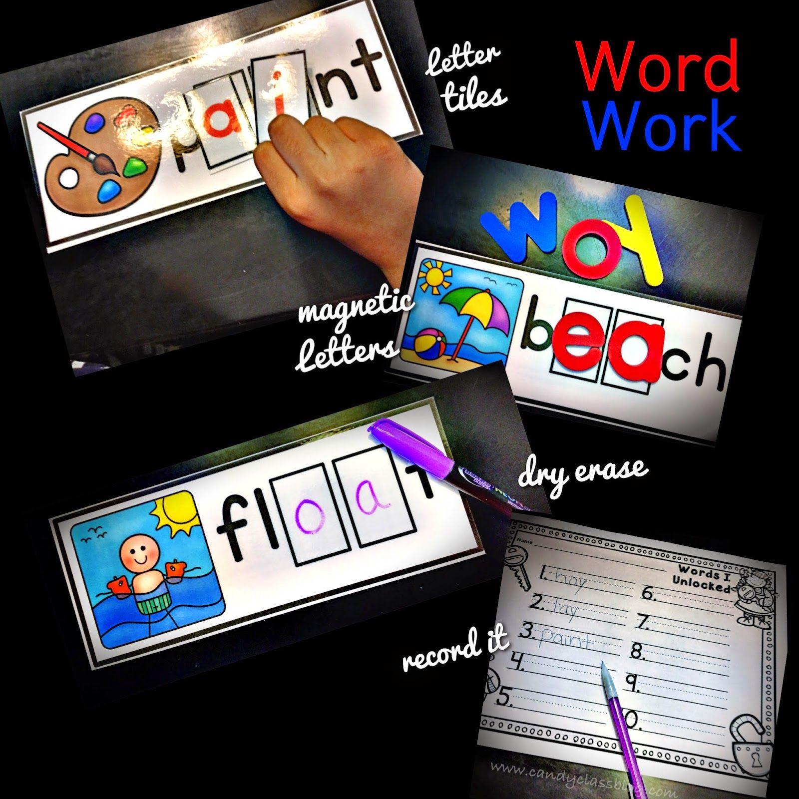 Vowel Team Word Work Center Long Vowel Activities For 1st
