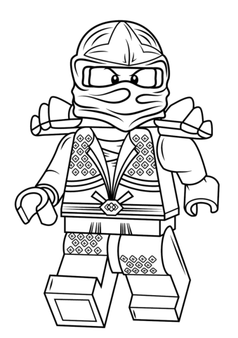 Ausmalbild Lego Ninjago Lloyd Zx Ausmalbilder Kostenlos Zum