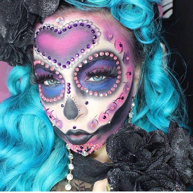 Pink Sugar Skull Sugar Skull Makeup Fantasy Makeup Skull Makeup