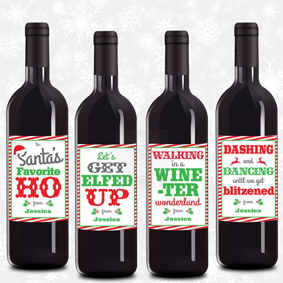 Personalized Wine Labels Christmas Wine By Psychobabyprintables Personalized Wine Labels Christmas Homemade Wine Label Christmas Wine Label