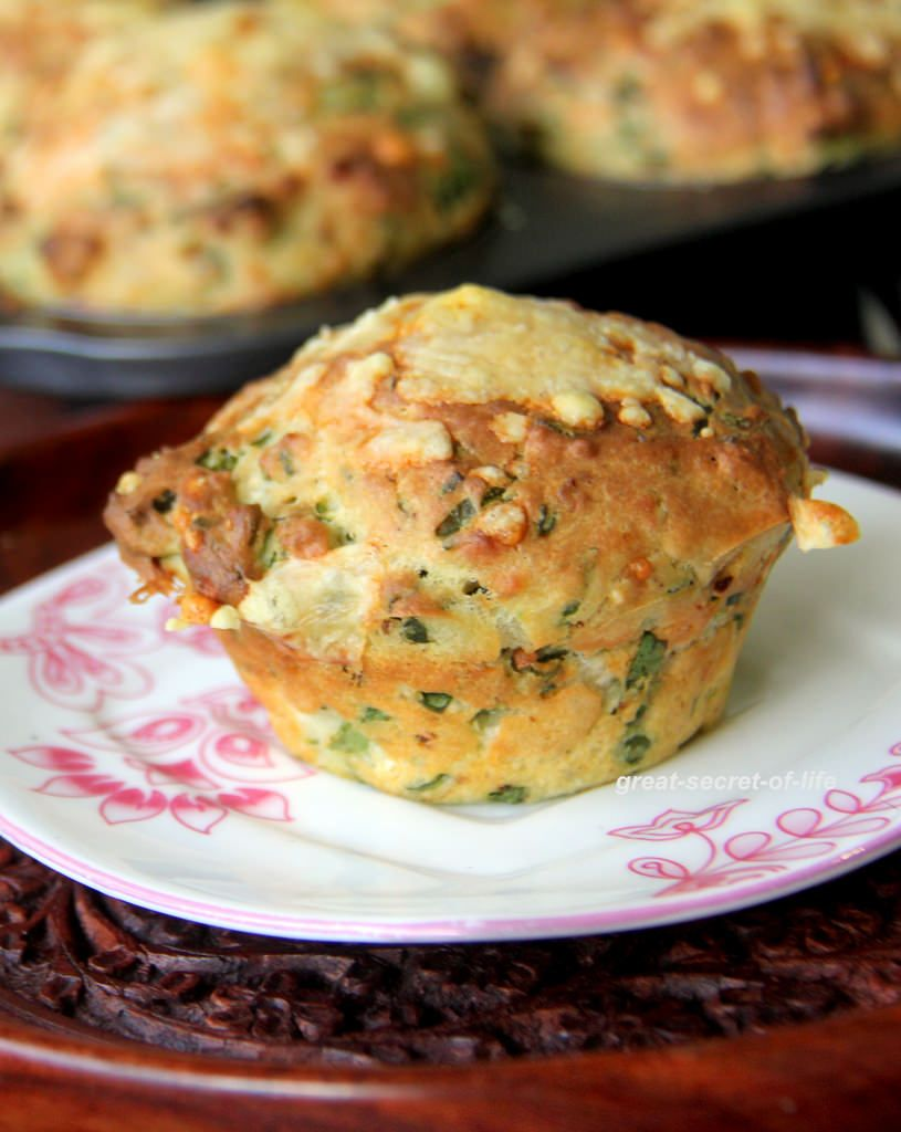 Eggless Spinach Feta Cheese Muffin Recipe By Veena Theagarajan Best Muffin Recipes For Breakfast Eggless Recipes Savory Muffins Recipes Eggless Breakfast