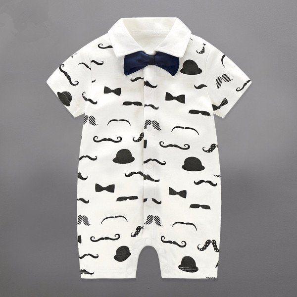 Baby Boy Mustache Romper