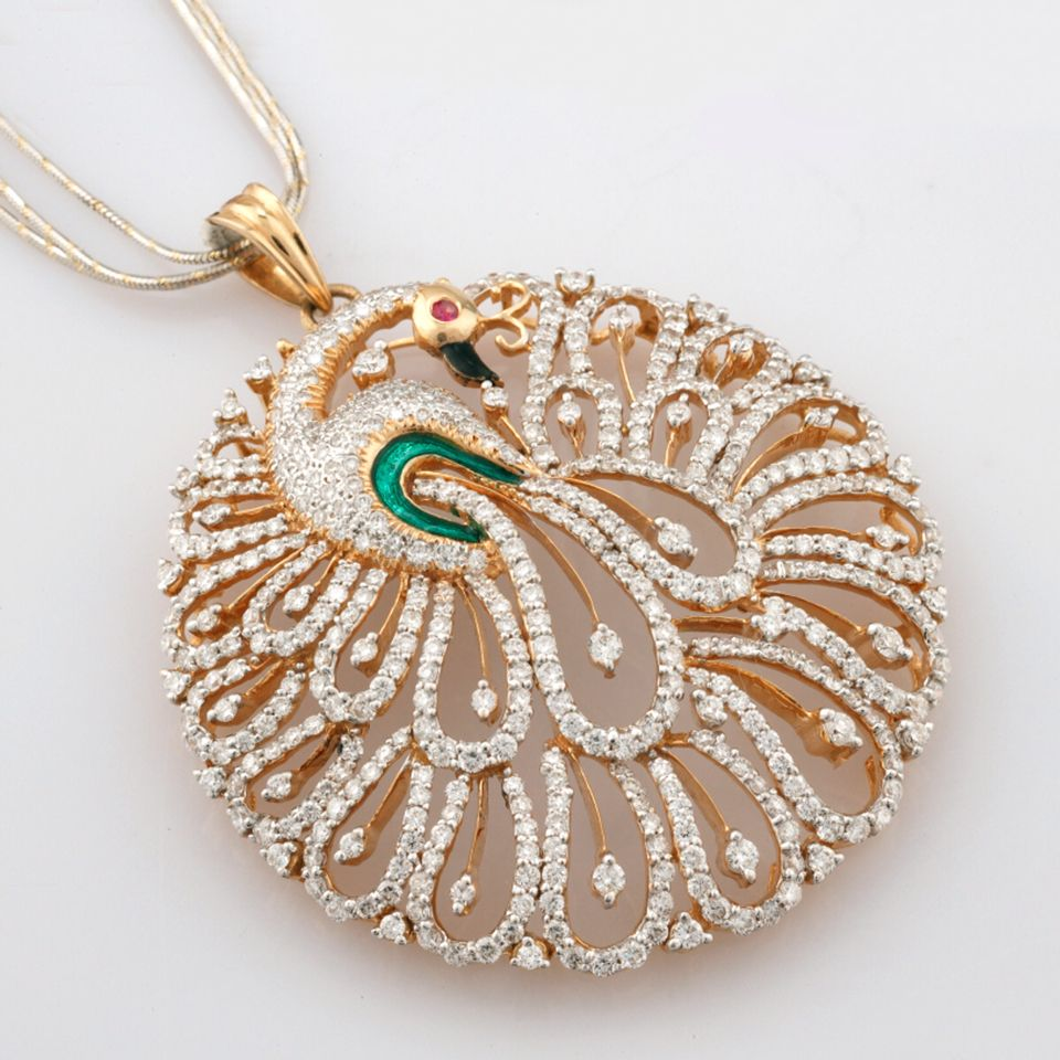 Beautiful peacock diamond pendant diamond pendant pinterest beautiful peacock diamond pendant mozeypictures Gallery