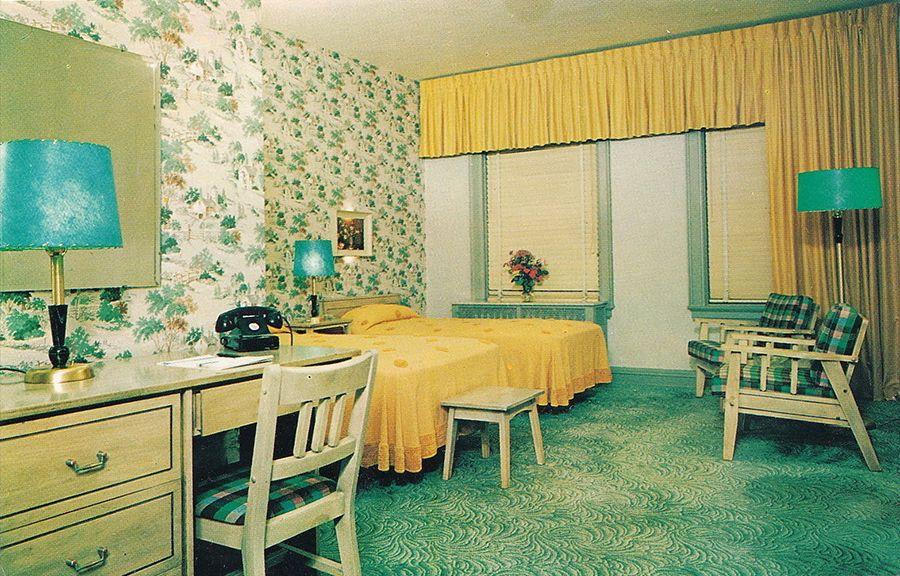 Bay City Mi 1960s Interior Downtowns Por Modern Wenonah Hotel