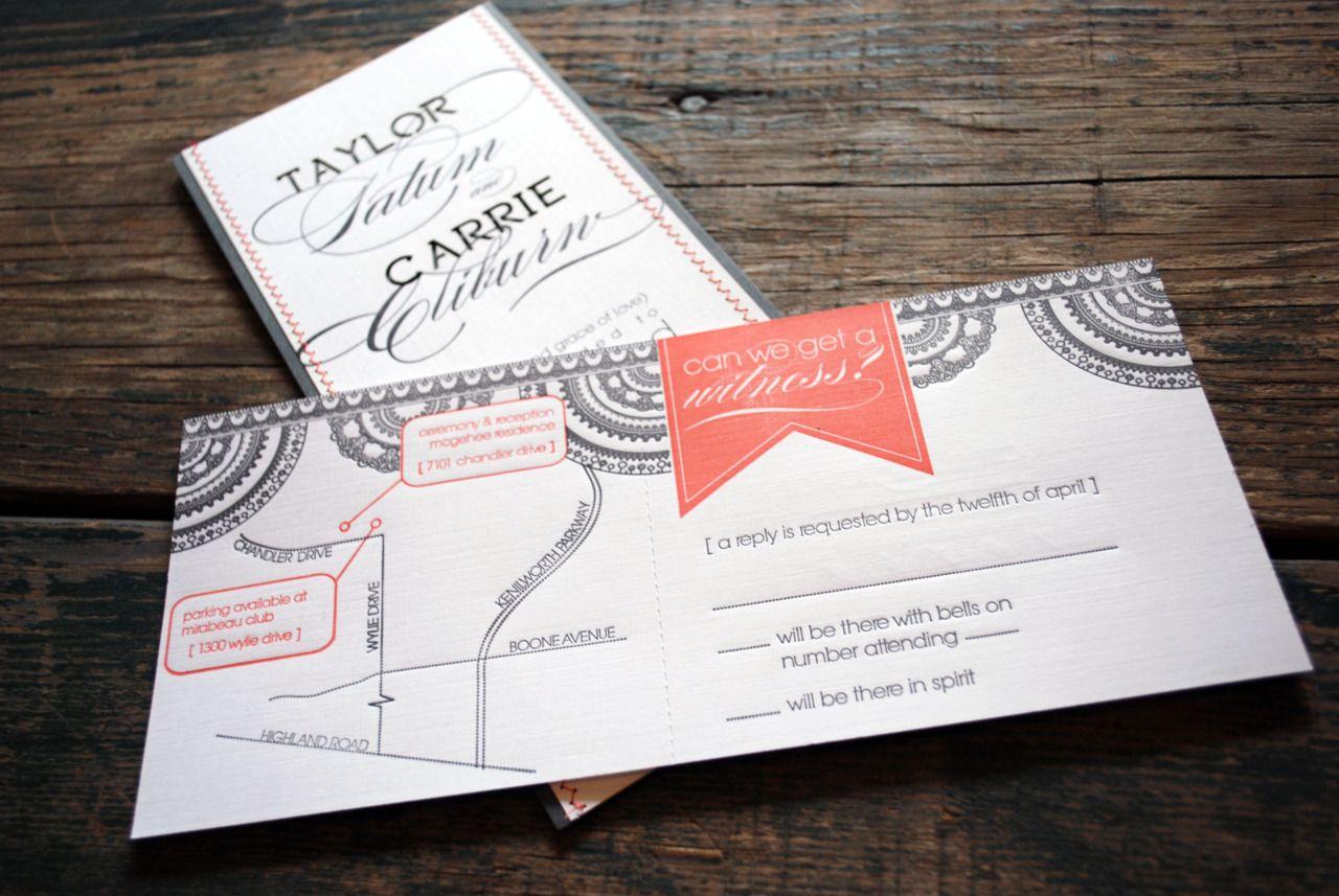 Can we get a witness letterpress rsvp map wedding bodas