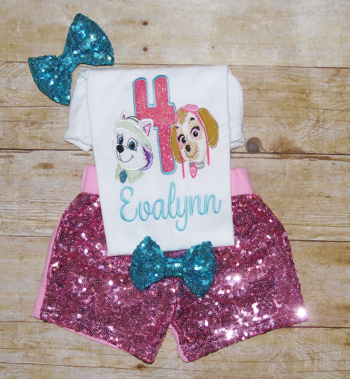 Girls Clothing Paw Patrol Birthday Outfit Skye Tutu Character Skye Shirt Pup Birthday Shirt Paw Patrol Birthday Outfit Skye And Everest Birthday Outfit Baby Girls Clothing