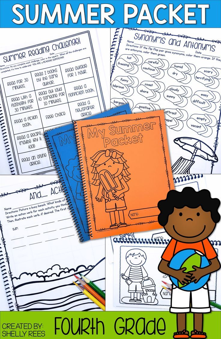 Summer Review Packets are a great way to help 4th grade students avoid the  summer slide! These printable reading and math acti…   Summer packet [ 1129 x 736 Pixel ]