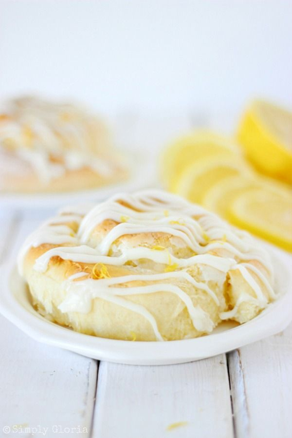creamy lemon filling and swirled around the inside folds of delicate homemade dough.