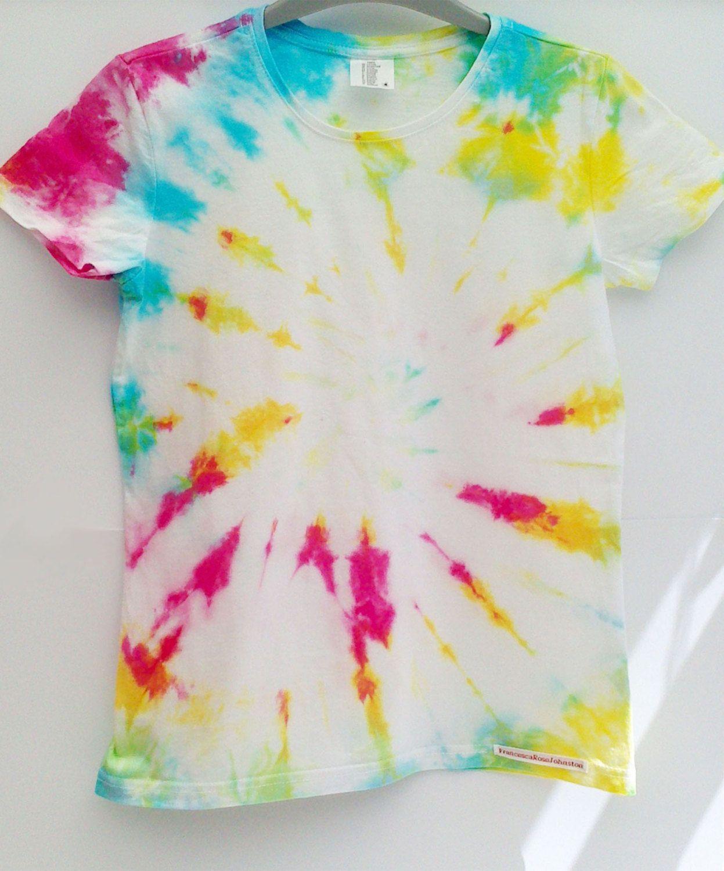 Womens (SMALL) Spiral Tie dye t shirt by FrancescaRoseJ on Etsy
