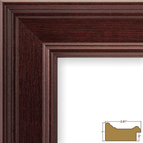 Craig Frames Fm97ma 12x16 Inch Picture Frame Smooth Wrap Finish 2 Inch Wide Mahogany Craig Frames Inc H Red Picture Frames Craig Frames Wood Picture Frames