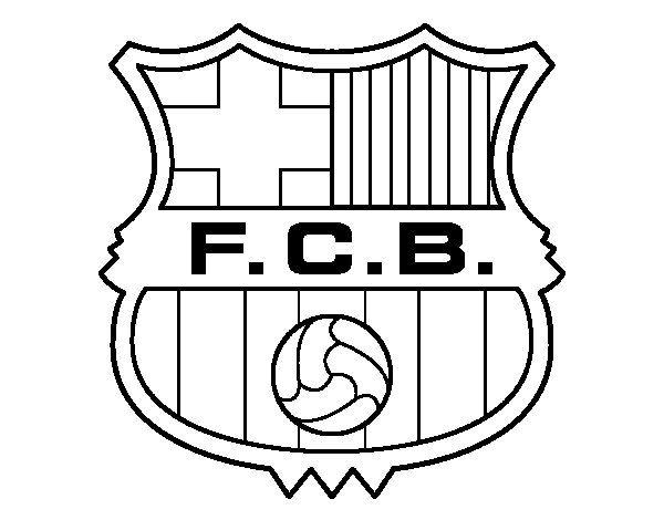 Afficher L Image D Origine Escudo Barca Escudo Del Barcelona Futbol Para Colorear