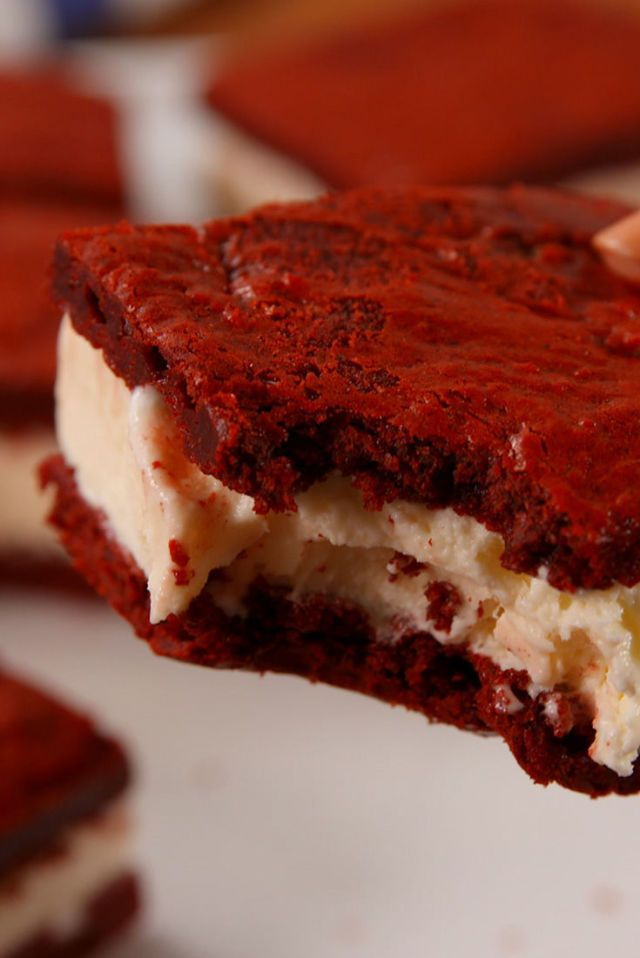Red Velvet Ice Cream Sandwiches Recipe Desserts Ice Cream Sandwiches Recipe Delicious Desserts