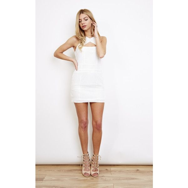 Glamorous White Cut Out Mini Dress ($23) ❤ liked on Polyvore featuring dresses, white, glamorous dresses, white day dress, cutout mini dress, white dress and mini dress